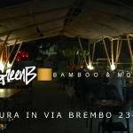 Bambù Gigante – Vista Notturna della Struttura – Costruzioni di Moso e Madake in Italia – Filiera Bioedilizia e Architettura