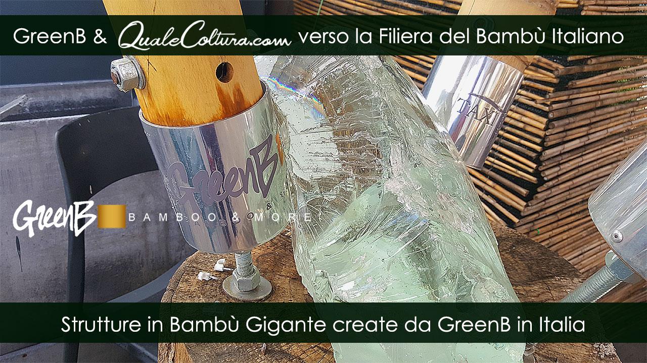 Bambù Gigante – Giunzione Acciaio Legno – Costruzioni di Moso e Madake in Italia – Filiera Bioedilizia
