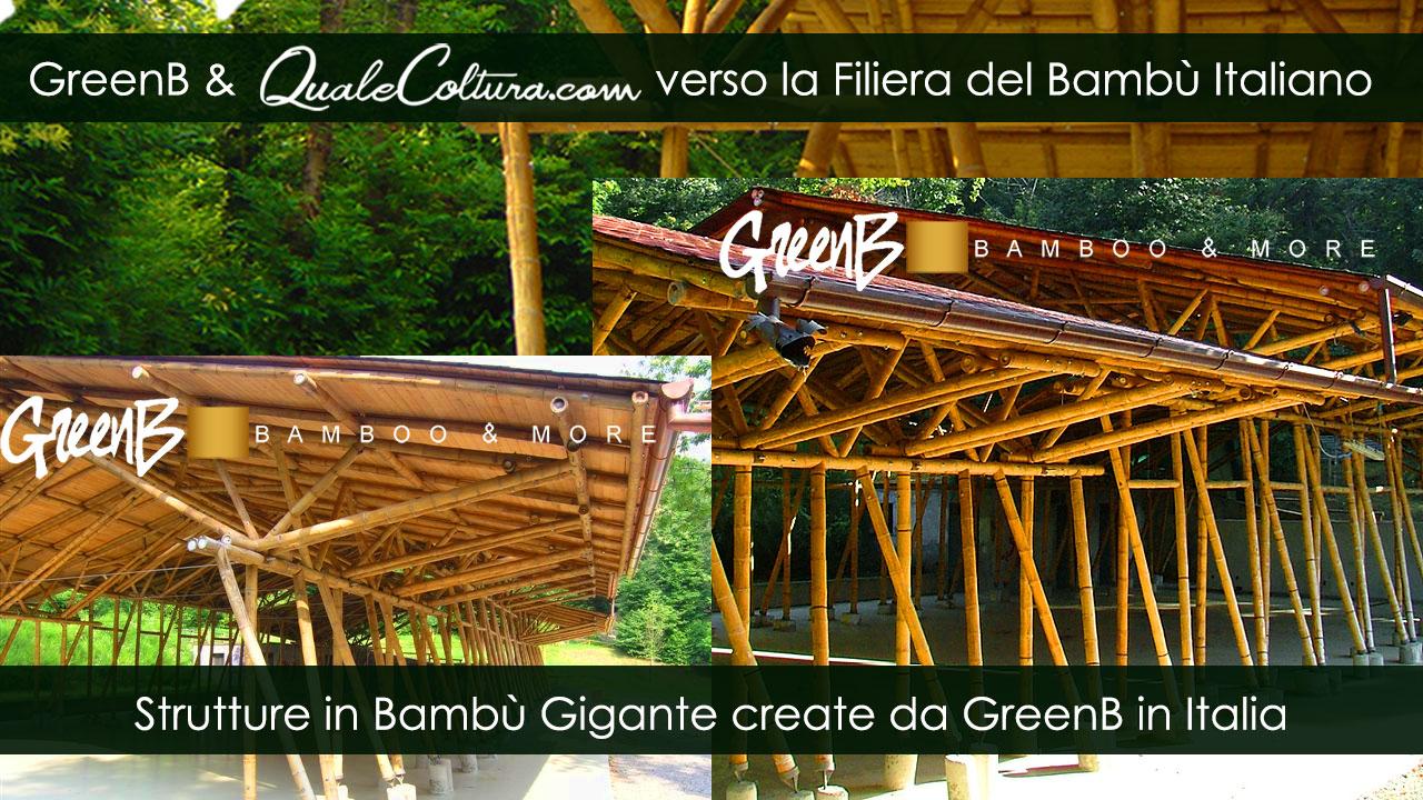 Bambù Gigante – Particolari del Padiglione – Costruzioni di Moso e Madake in Italia – Filiera Bioedilizia e Architettura